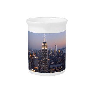 Manhattan New York Beverage Pitcher