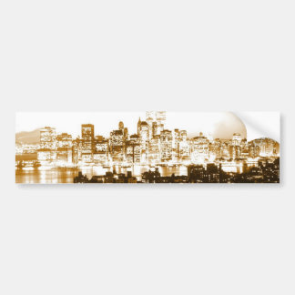 Manhattan New York Car Bumper Sticker