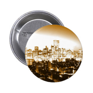 Manhattan New York Button