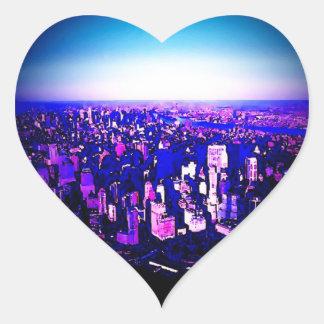 Manhattan New York City Heart Sticker