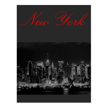 USA Themed Manhattan New York City Postcard