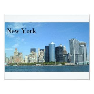 "Manhattan New York City (St.K) Invitación 4.25"" X 5.5"""