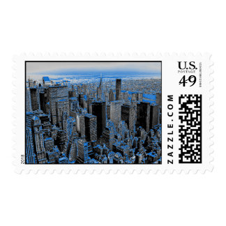 Manhattan New York City Stamps