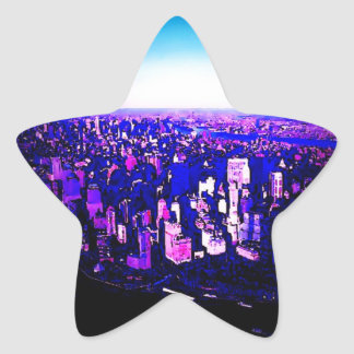 Manhattan New York City Star Sticker
