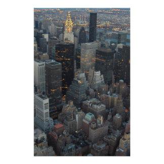 Manhattan New York City Custom Stationery