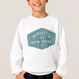 Manhattan New York City Vintage Logo light blue Sweatshirt