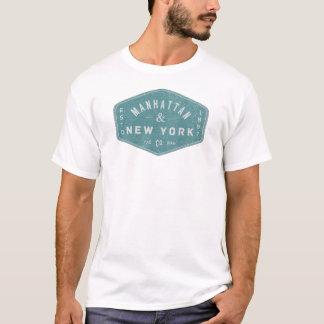Manhattan New York City Vintage Logo light blue T-Shirt