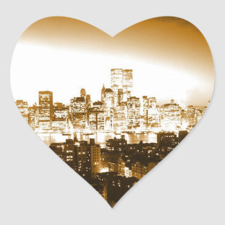 Manhattan New York Heart Sticker