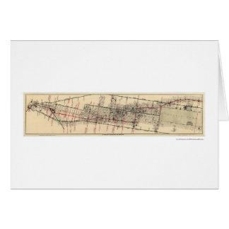 Manhattan New York Map 1906 Greeting Card