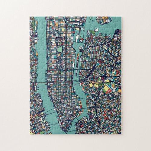 Manhattan New York Map Jigsaw Puzzle