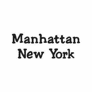 Manhattan New York NY Embroidered Polo Shirt