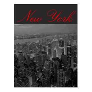 Manhattan New York Script Postcard