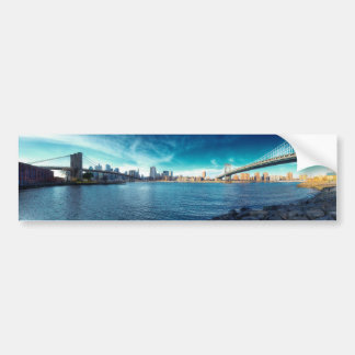 Manhattan New York Skyline from East River Car Bumper Sticker