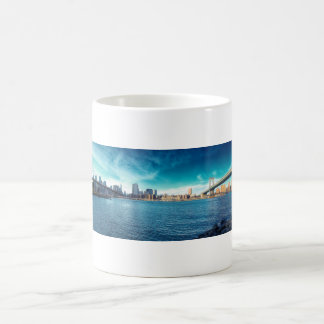 Manhattan New York Skyline from East River Coffee Mug
