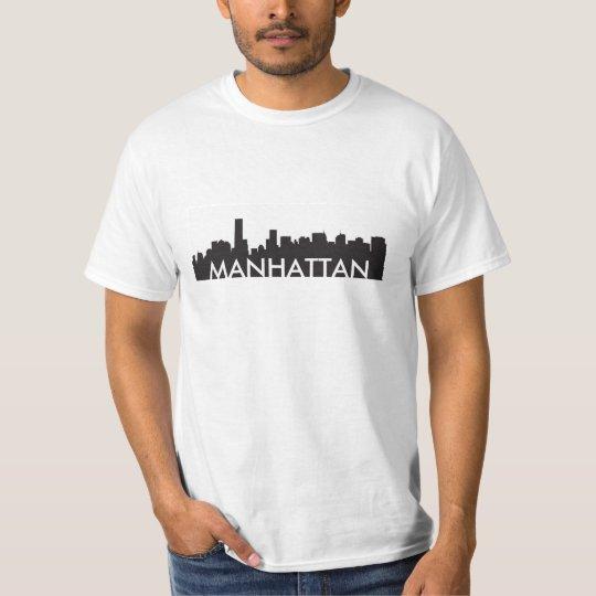 manhattan new york skyline silhouette america city T-Shirt