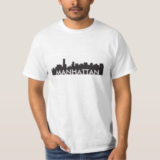 manhattan new york skyline silhouette america city t shirts