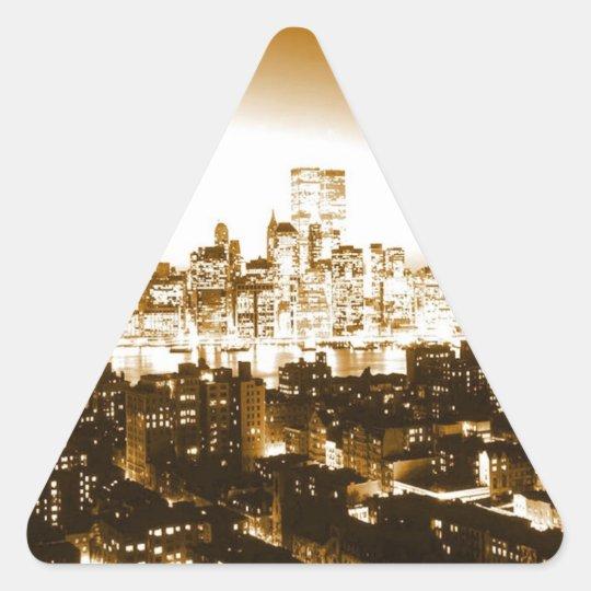 Manhattan New York Triangle Sticker