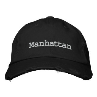 Manhattan, New York US City Embroidered Baseball Hat
