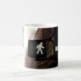 Manhattan New York Walk Sign Coffee Mug