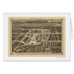 Manhattan New York Worlds Fair Map 1883 Card