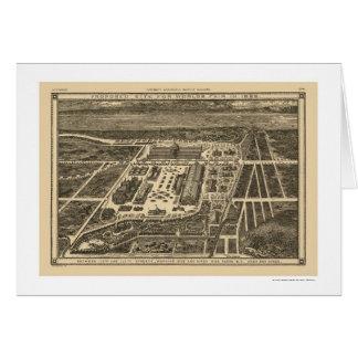Manhattan New York Worlds Fair Map 1883 Greeting Card