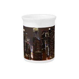 Manhattan Night Skyline Pitcher