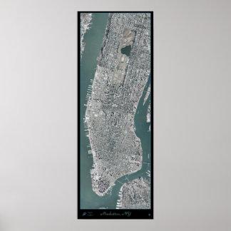 Manhattan Nueva York NY del poste del satélite Posters