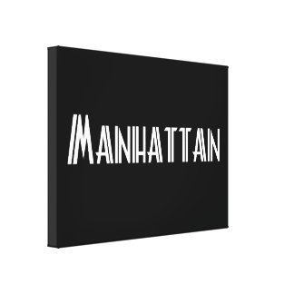 Manhattan, NY - Cities and Countries Collection Canvas Print