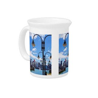Manhattan, NY - horizonte del parque de estado de Jarras Para Bebida