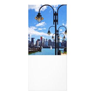 """Manhattan, NY - horizonte del parque de estado de Folleto Publicitario 4"""" X 9"""""""
