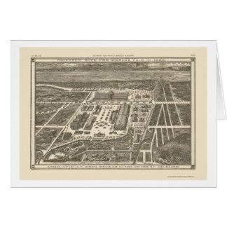 Manhattan, NY Panoramic Map - 1883 Greeting Card