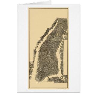 Manhattan, NY Panoramic Map - 1900 Greeting Card