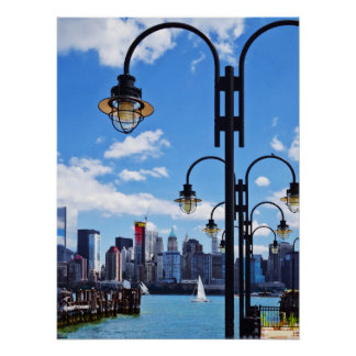 Manhattan NY - Skyline From Liberty State Park Poster