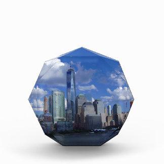 Manhattan NYC World Trade Center WTC Hudson River Acrylic Award
