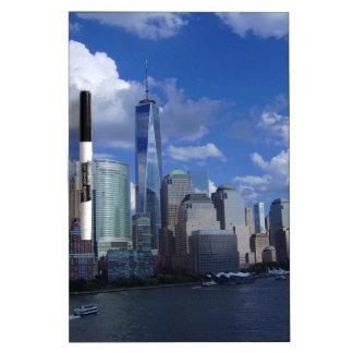Manhattan NYC World Trade Center WTC Hudson River Dry-Erase Board