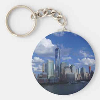 Manhattan NYC World Trade Center WTC Hudson River Keychain