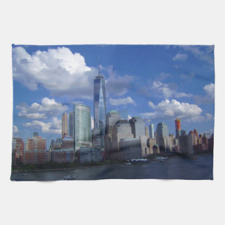 Manhattan NYC World Trade Center WTC Hudson River Kitchen Towel
