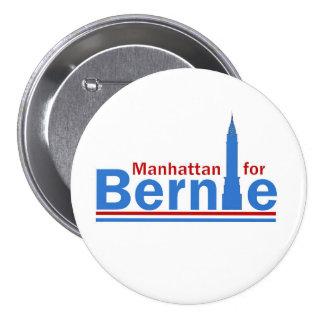 Manhattan para Bernie Pin Redondo De 3 Pulgadas