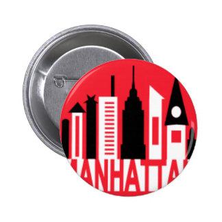 Manhattan Pin Redondo De 2 Pulgadas