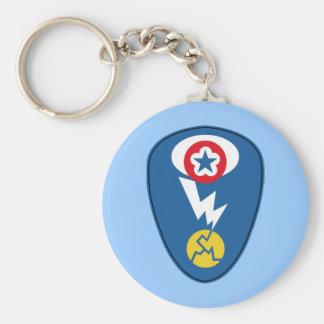 Manhattan Project Basic Round Button Keychain