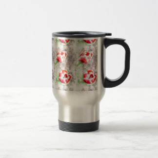 Manhattan Red Tulips Watercolor Travel Mug