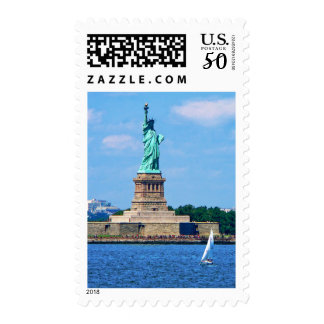 Manhattan - Sailboat By Statue Of Liberty Postage