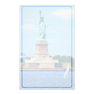 Manhattan - Sailboat By Statue Of Liberty Stationery