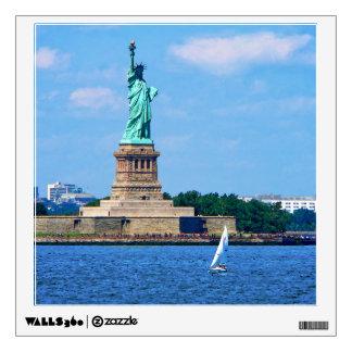 Manhattan - Sailboat By Statue Of Liberty Wall Sticker