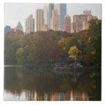 Manhattan Skyline 2 Large Square Tile
