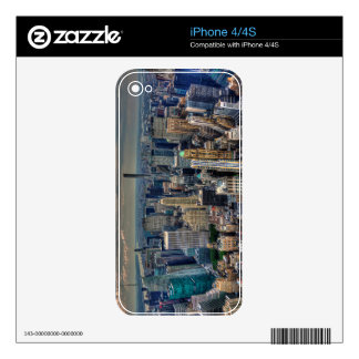 Manhattan Skyline 2 Decals For The iPhone 4S
