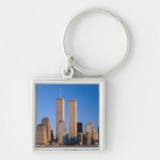 Manhattan Skyline and Hudson River, New York, 2 Keychain