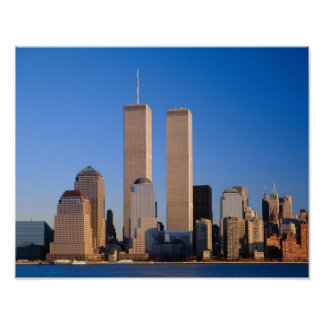 Manhattan Skyline and Hudson River, New York, 2 Poster