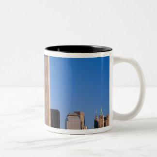 Manhattan Skyline and Hudson River, New York, 2 Two-Tone Coffee Mug