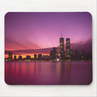 Manhattan Skyline and Hudson River, New York, Mouse Pad